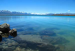 Lake Pukaki, New Zealand.