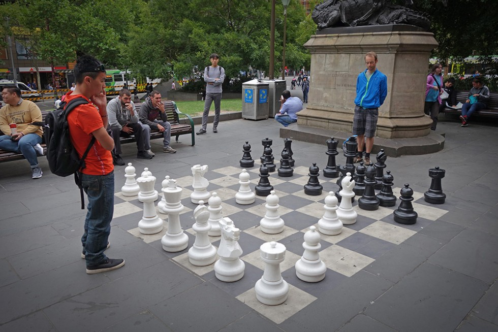Street Chess in Melbourne