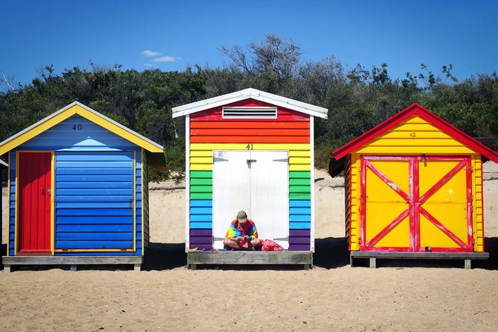Rainbow beach box
