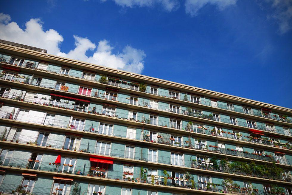 Paris apartment block