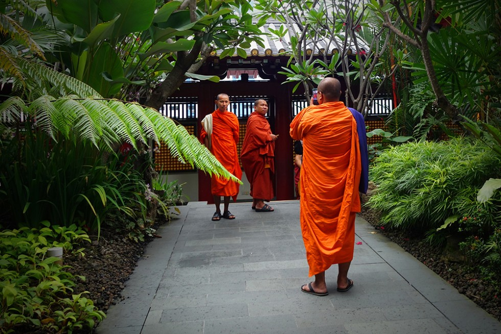 Thai Monks on vacation in Singapore