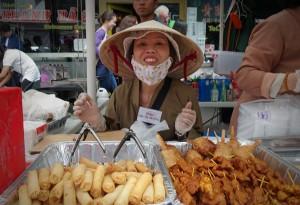 Smiling Vietnamese lady