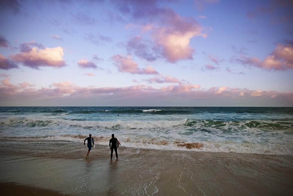 Surfers at Bells Beach