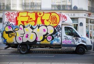 Tagged truck