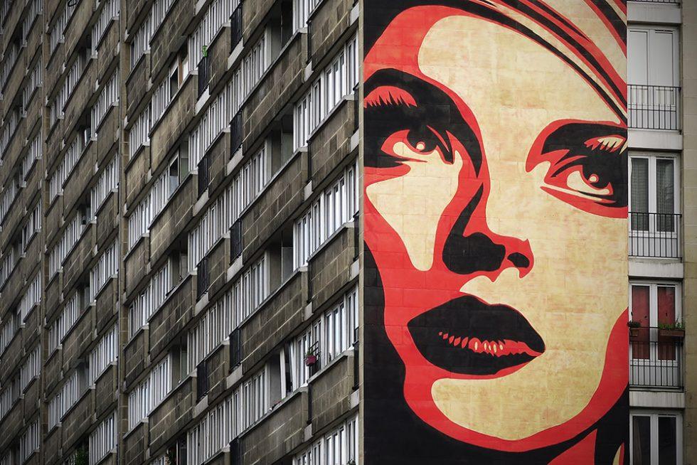 Rise Above Rebel in Paris by Shepard Fairey