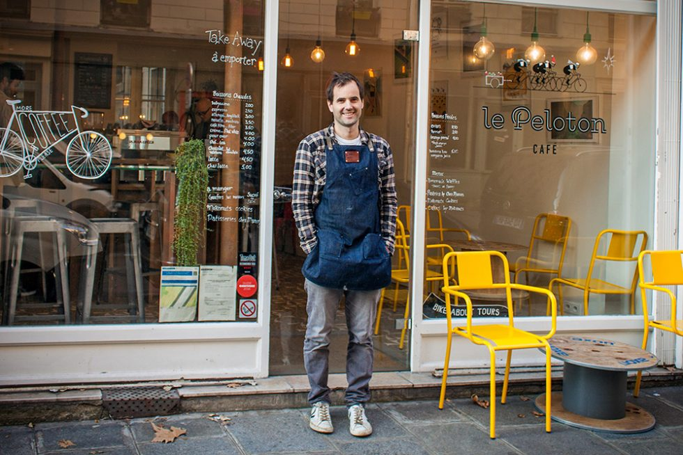 Paul Barron - Le Peloton cafe, Paris.