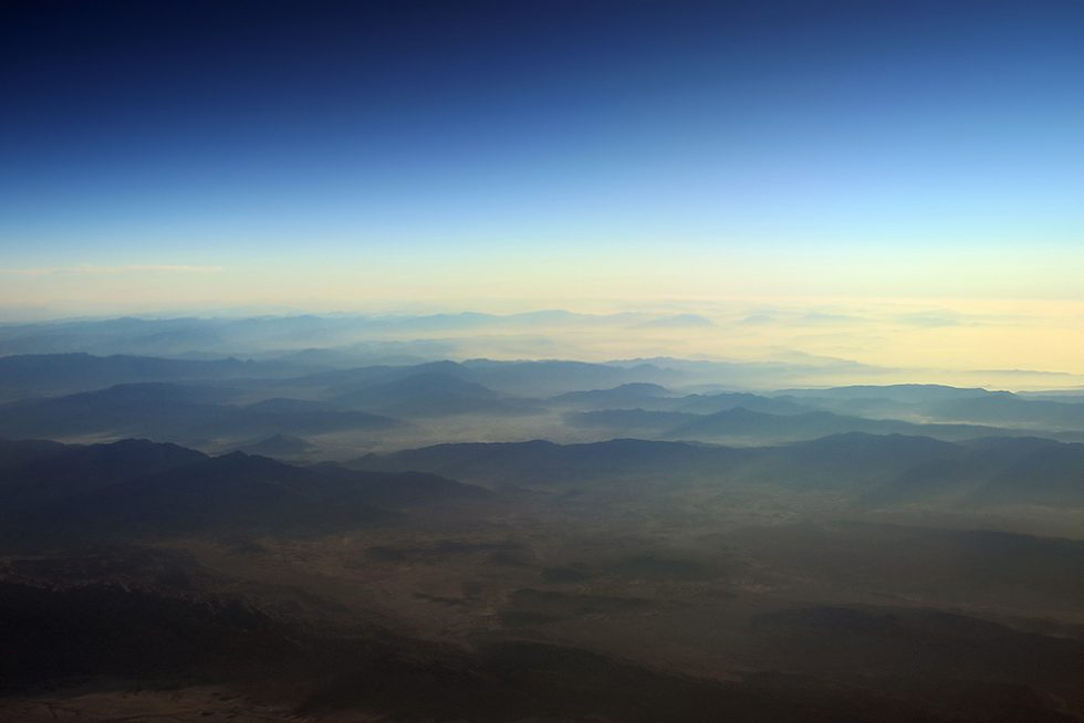 Flying over the mid east